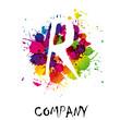 Splash Logo letter R # Vector