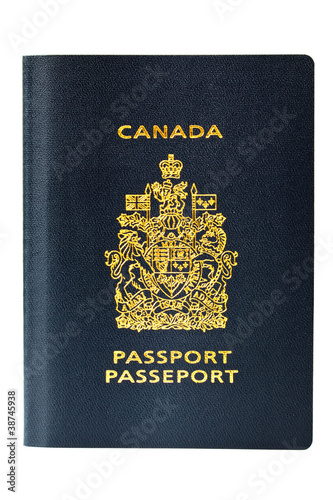 Brand new Canadian Passport, isolated