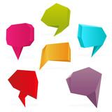Set of polygon speech bubbles. Vector illustration. poster