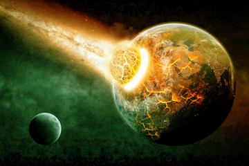 Planet illustration Earth Apocalypse