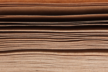 Stack of brown papers