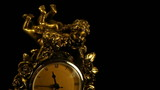 Bronze antique clock, time-lapse