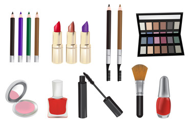 Make up and cosmetics  illustration