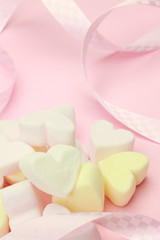 heart-shaped marshmallow