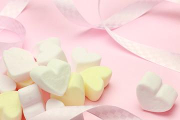heart-shaped marshmallow