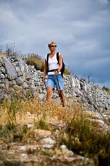 hiking to the peak