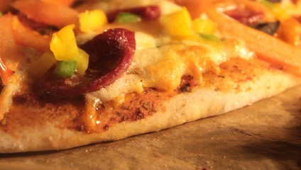 Pizza baking in an oven -  Video