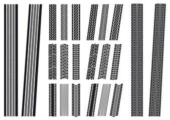 set of tyre imprints