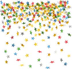 falling down confetti