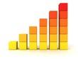 orange success business bar graph grow up