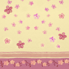 Baby flower background