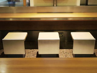 Table and chair in food court