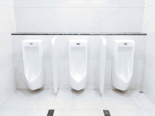 Men lavatory in modern building