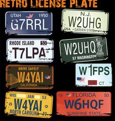 retro licence plates