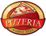 Fototapety pizzeria label design