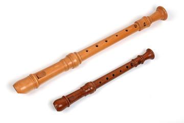 Zwei Blockflöten