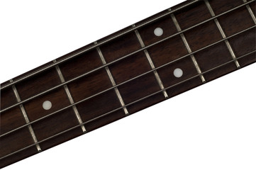 Bass Guitar Fretboard isolated white background