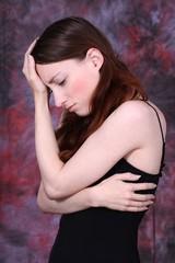 sad yong woman