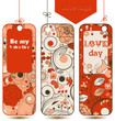 Love tags vector set