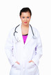 Woman medical doctor with sincere responsible look