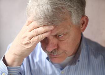 disturbed and suspicious older man