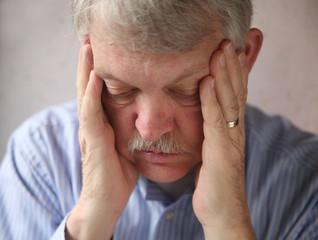 senior man depressed