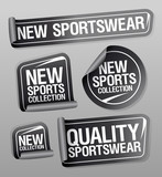 New sportswear collection stickers set