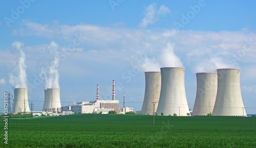 Nuclear power plant panorama. - 38758567