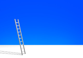 Illustration of a ladder against clear blue sky