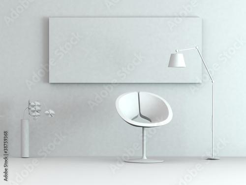 Modell - Sessel mit Stehlampe