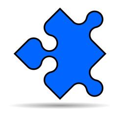 Blaues Puzzleteil