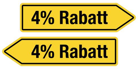 2 Pfeilschilder gelb 4% RABATT