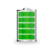 Leinwanddruck Bild - Batterie Symbol grün
