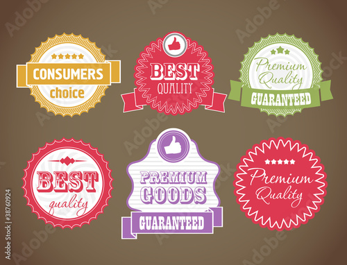 Vector vintage discount labels set