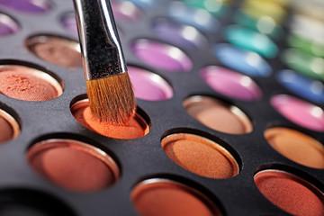 eyeshadow palette and brush