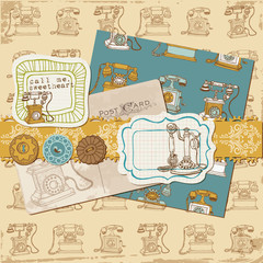 Scrapbook Design Elements - Vintage Telephones in vector