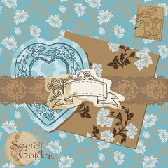 Scrapbook Design Elements - Vintage Flower Wallpapers and Vintag