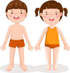 Boy and girl standing