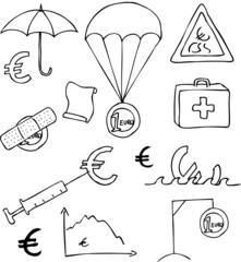 Eurokrise Doodles
