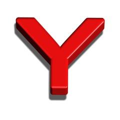 3d lettera Y