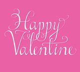 Happy Valentine script poster