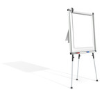 Flip Chart. White for copy space. Hard Shadow