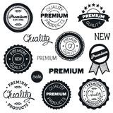 Drawn vintage badges