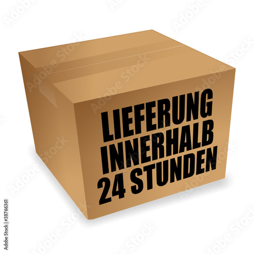 paket lieferung innerhalb 24 stunden i von wogi lizenzfreier vektor 38766361 auf. Black Bedroom Furniture Sets. Home Design Ideas