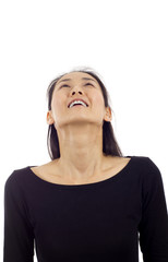 Thoughtful Asian Woman