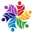Teamwork flower logo