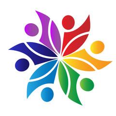 Teamwork culture logo