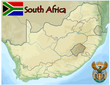 south africa map flag emblem