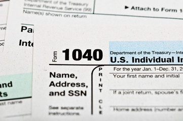 Tax forms 1040.