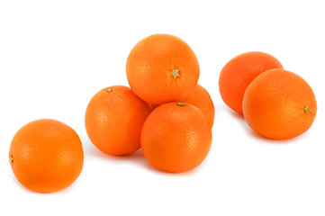 Oranges on a white background.